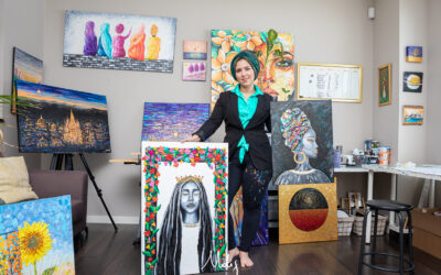 Personal Stories Captured By Canadian Palette Knife Painter Nada Khatib